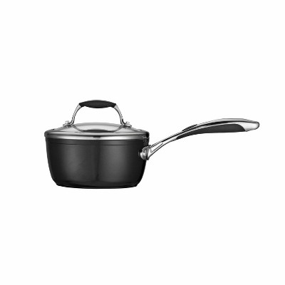 Tramontina Gourmet Ceramica_01 Deluxe 1.5qt Sauce Pan with Lid Metallic Black
