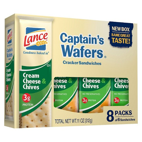 Lance Captain's Wafers Cream Cheese & Chives Cracker Sandwiches - 11oz / 8ct - image 1 of 1