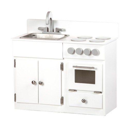 Remley Kids Wooden Play Kitchen Set Sink Oven Stove Ships Assembled White Target