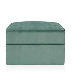 Juliette Velvet Ottoman with Hidden Casters Seafoam Green - CosmoLiving by Cosmopolitan