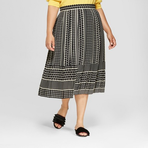 Women's Plus Size Pleated Skirt - Who What Wear™ - image 1 of 3