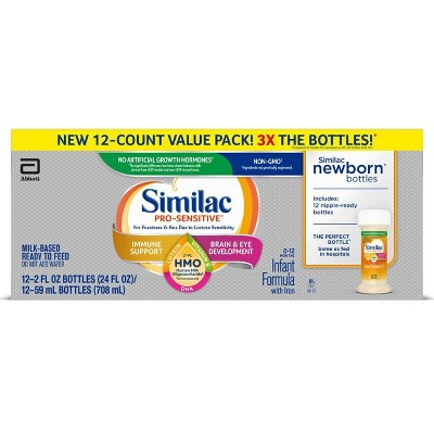 Similac Pro-Sensitive Non-GMO Infant Formula with Iron - 12ct/2 fl oz Each