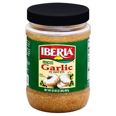 Iberia Minced Garlic in Water - 32oz