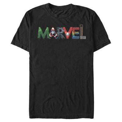 Men's Marvel Logo Hero Font T-Shirt