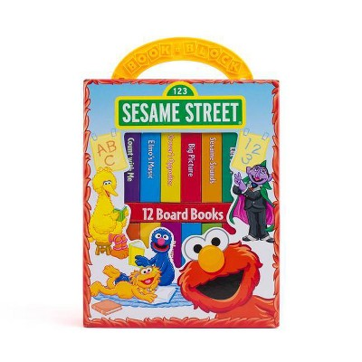 Sesame Street My First Library 12 Board Book Block Set - by Phoenix (Hardcover)