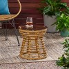 San Pedro Wicker Outdoor Side Table - Light Brown - Christopher Knight Home - image 2 of 4