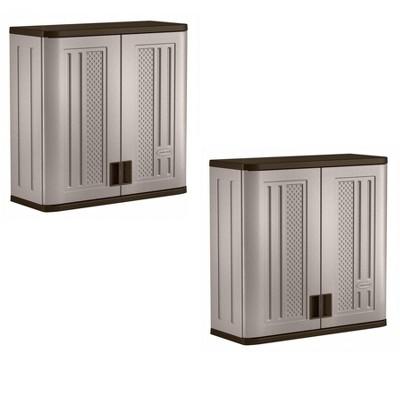 Superbe Suncast 4 Cubic Feet Resin Single Shelf Garage Wall Storage Cabinet (2  Pack) : Target
