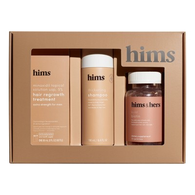hims Total Hair Package - Supports Hair Growth - Shampoo + Gummy Vitamins + Minoxidil 5%