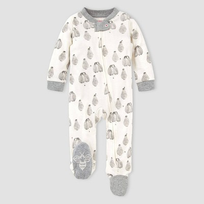 Burt's Bees Baby® Baby Organic Cotton Baby Penguins Sleep N' Play - White Newborn