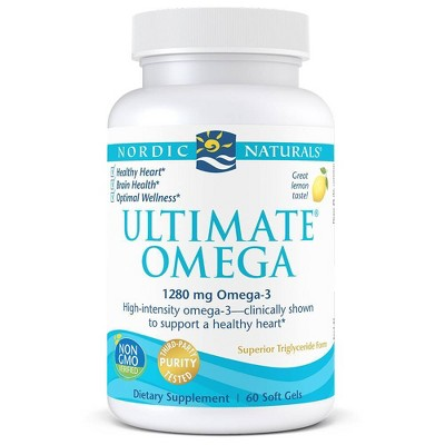 Nordic Naturals Ultimate Omega Softgels Dietary Supplement - 60ct