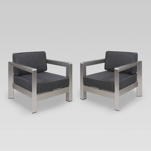Aviara 2pk Aluminum Club Chairs - Christopher Knight Home - image 1 of 4