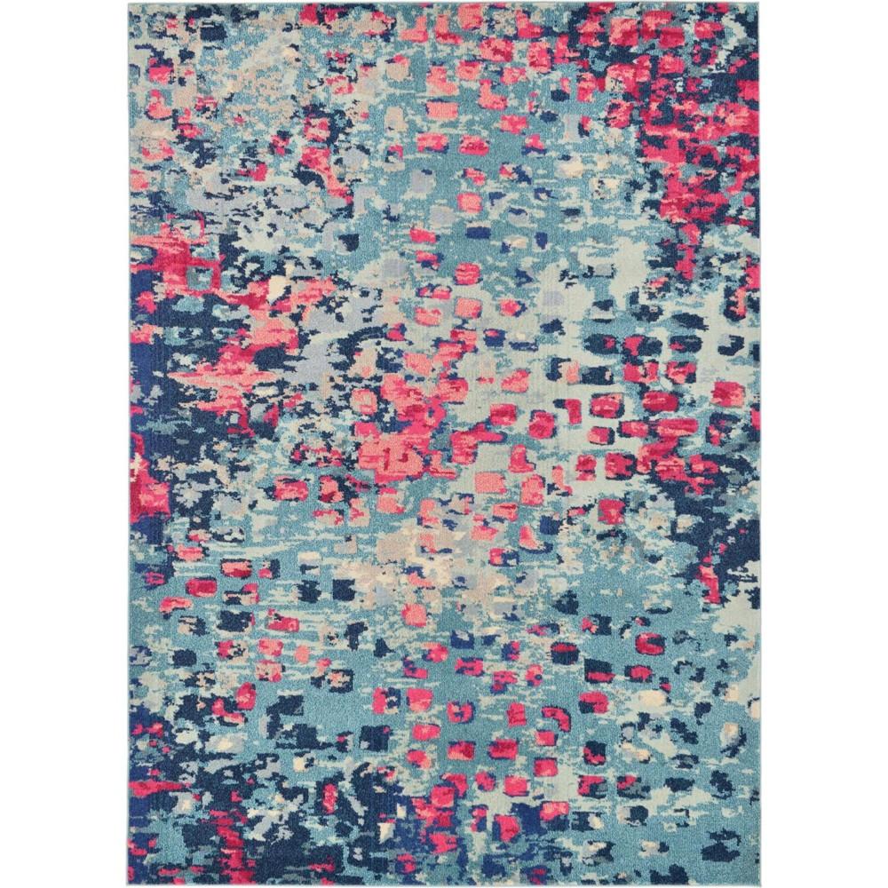 7 39 X10 39 Ivy Jardin Rug Blue Pink Unique Loom