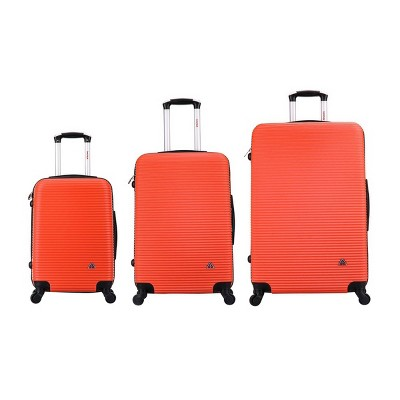 InUSA Royal Lightweight Hardside Spinner 3pc Luggage Set - Orange