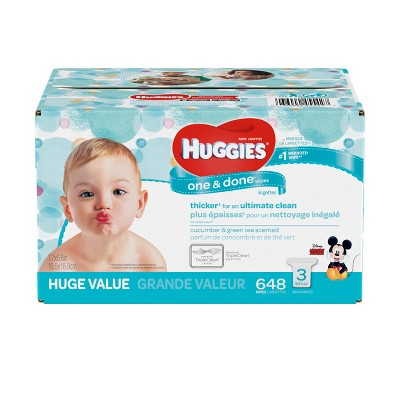 Huggies One & Done Baby Wipes - 616ct
