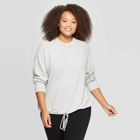 Women's Plus Size Long Sleeve Mockneck Pullover - A New Day™ - image 1 of 3