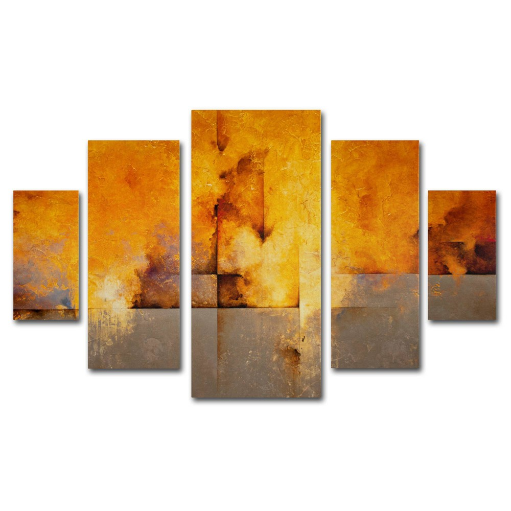 'Lost Passage' by CH Studios Ready to Hang Multi Panel Art Set, Golden