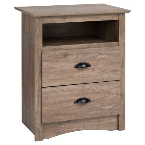 Salt Spring 2 - Drawer Nightstand - Drifted Gray - Prepac - image 1 of 4