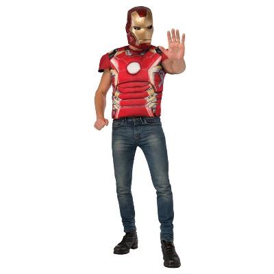Adult Marvel Iron Man Mark 43 Shirt and Mask Costume One Size