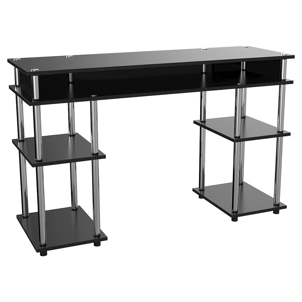 Designs2Go No Tools Student Desk Black - Convenience Concepts