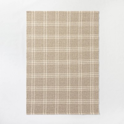 Cottonwood Hand Woven Plaid Wool Cotton Area Rug Neutral Threshold Designed With Studio Mcgee Target