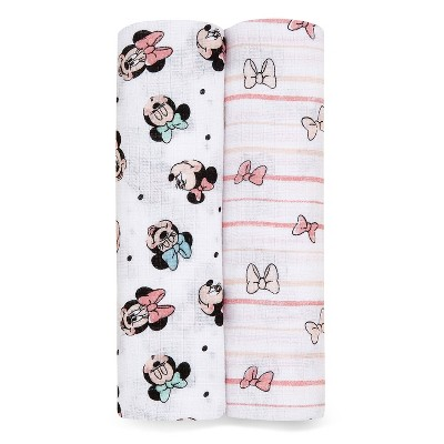 Aden + Anais Essentials Disney Baby Swaddleplus Minnie Rainbows - 2pk