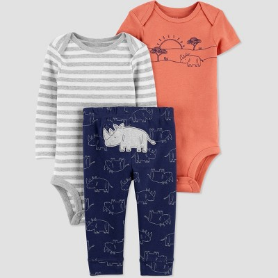 Baby Boys' Rhino Top & Bottom Set - Just One You® made by carter's Orange 3M