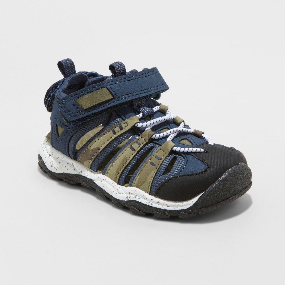 Image of Toddler Boys' Howell Fisherman Sandals - Cat & Jack Dark Blue 10, Boy's