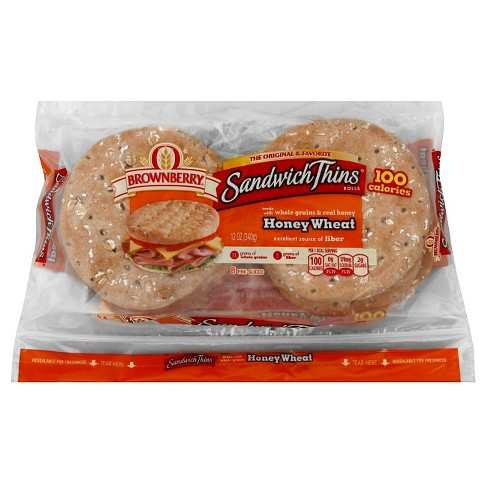 Brownberry® Sandwich Thins Honey Wheat Bread - 12oz - image 1 of 1