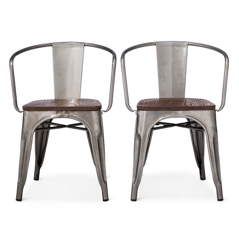 Carlisle Metal Dining Chair Distressed Metal Set Of 2 Target