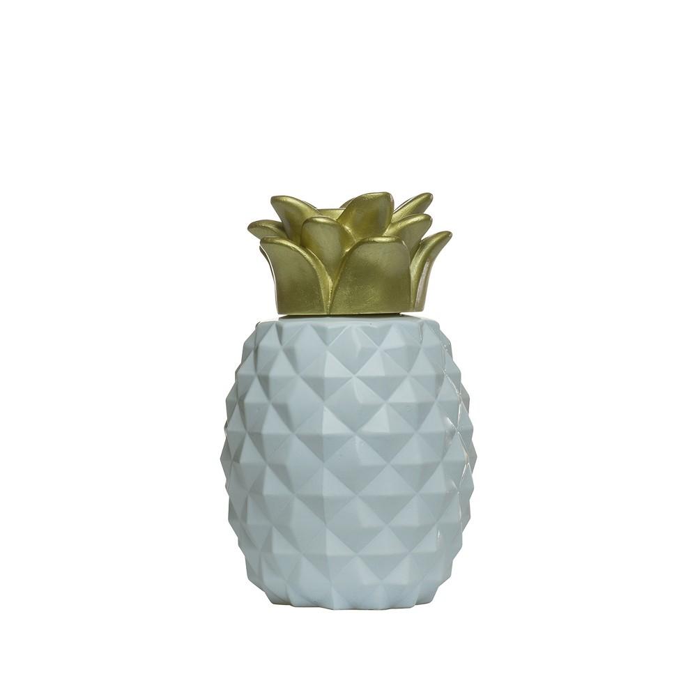 Pineapple Paradise Outdoor Table Torch -Tiki, White