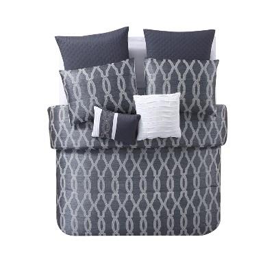 King Brandy Comforter Set Gray - VCNY Home