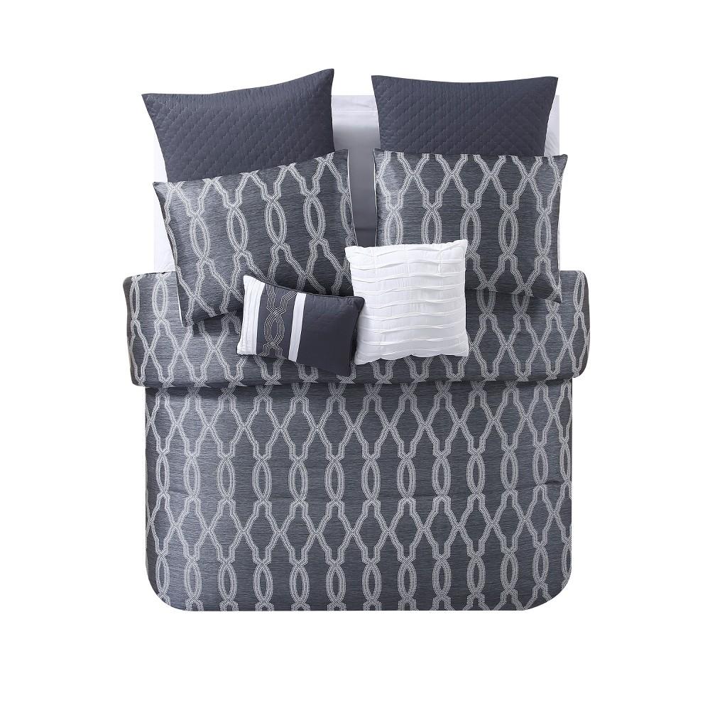 Cal King Brandy Comforter Set Gray - Vcny Home