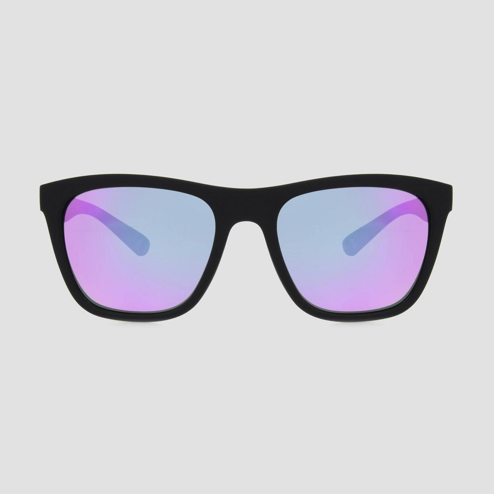 Image of Women's Polarized Surf Plastic Rubberized Sunglasses - Black, Women's, Size: Small, Black/Blue
