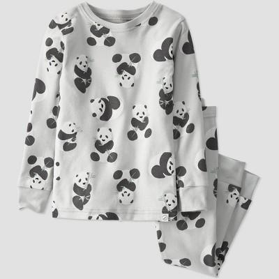 Baby Boys' 2pc Panda Striped Pajama Set - little planet by carter's Gray