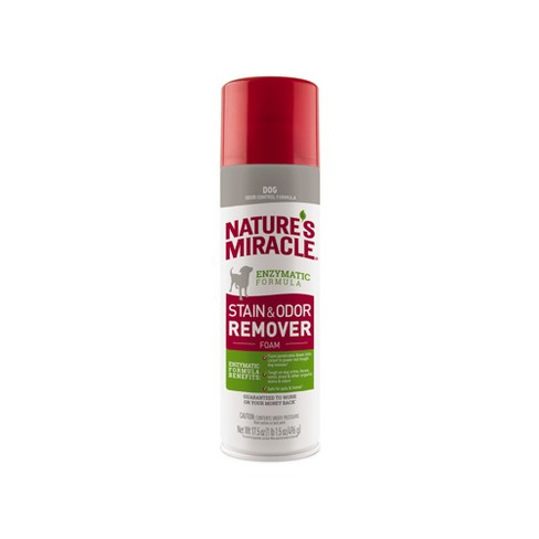Nature's Miracle Cat & Dog Stain and Odor Remover Foam 17.5oz - image 1 of 4