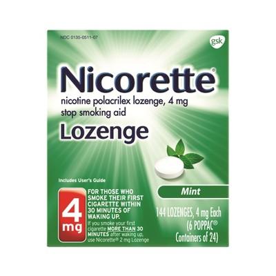 Nicorette 4mg Mint Nicotine Polacrilex Lozenge - 144ct