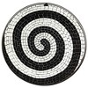 Teal Island Designs Spiral Mosaic Black Iron Outdoor Accent Table - image 3 of 4
