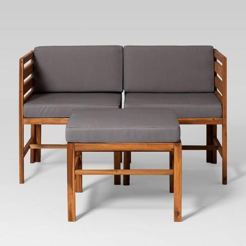 3pc Irivne Modular Outdoor Acacia L R, R Home Furniture