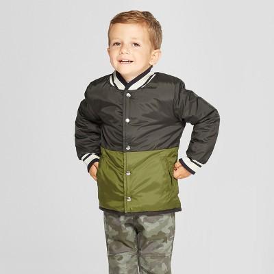 Toddler Boys' Reversible Jacket - Cat & Jack™ Navy/Charcoal 2T