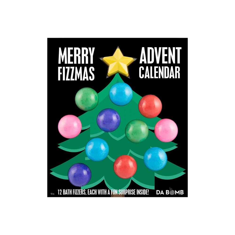 Image of Da Bomb Bath Fizzers Merry Fizzmas 12-Day Advent Calendar Bath Soaks - 24oz