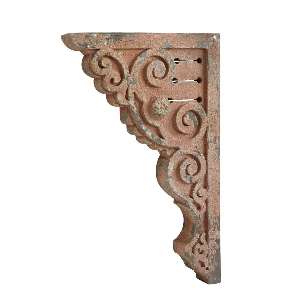 "Image of ""26.5"""" x 2.5"""" Decorative Distressed Corbels Pink - 3R Studios"""