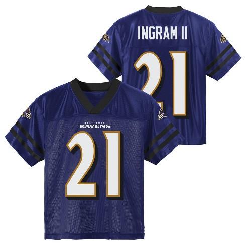 NFL Baltimore Ravens Toddler Boys' Mark Ingram Short Sleeve Jersey - 2T