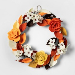 Harvest Felt Floral Wreath - Spritz™