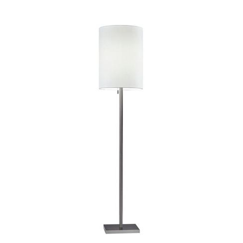 Liam Floor Lamp Silver  - Adesso - image 1 of 2