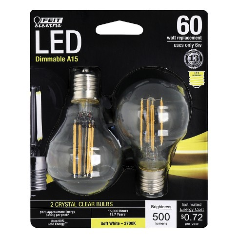 LED 60W Soft White 2pk - Feit Electric - image 1 of 1