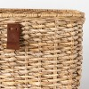 """Decorative Cube Basket with Leather Pull 13"""" x 11"""" Natural - Threshold™ designed with Studio McGee - image 3 of 4"""