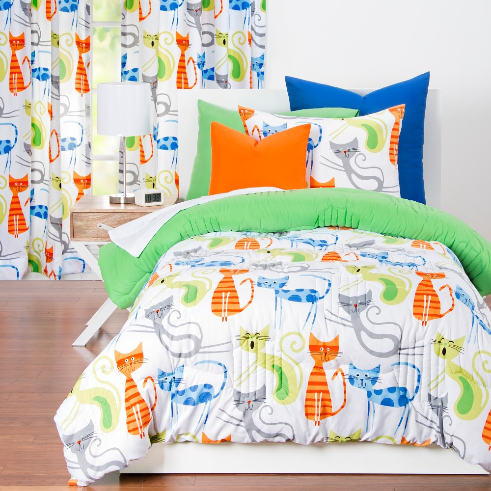 Image of Smarty Cat Comforter Set (Full/Queen) - Learning Linens