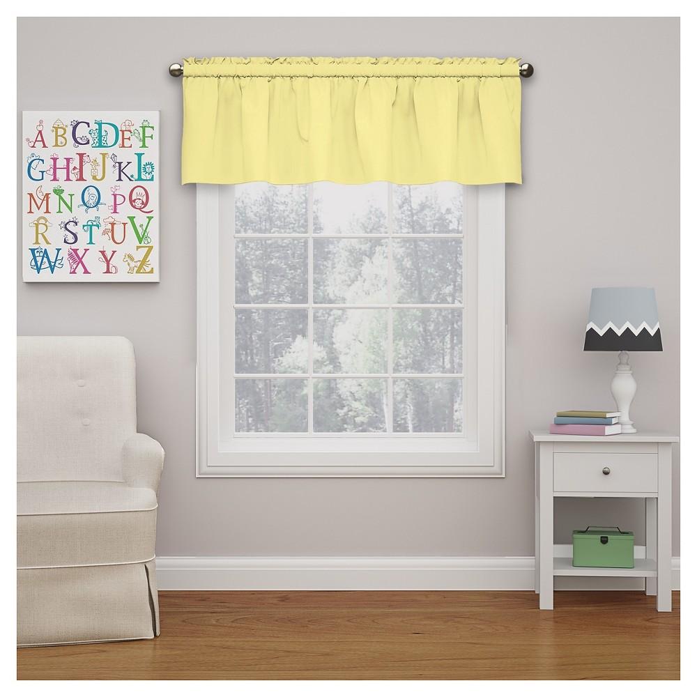 "Image of ""Microfiber Blackout Window Valance Anise Flower (18""""x42"""") - Eclipse My Scene, Yellow"""