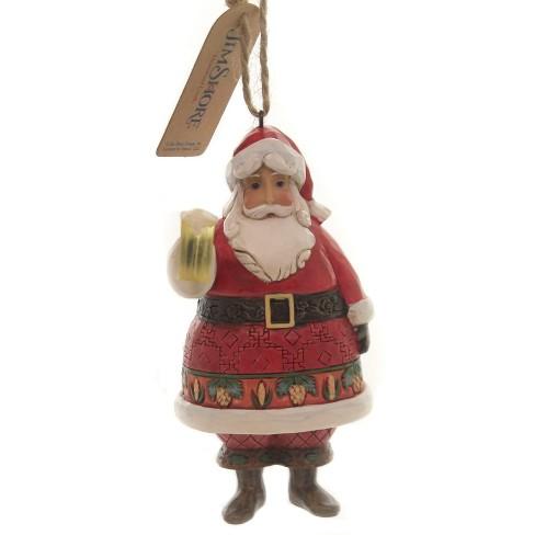 Jim Shore 4 5 Craft Beer Santa Christmas Ornament Mug Tree Ornaments Target