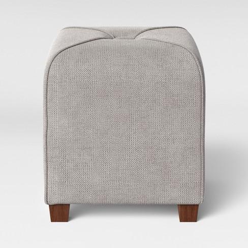 Super Ottoman Gray Threshold Theyellowbook Wood Chair Design Ideas Theyellowbookinfo